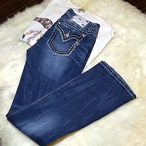Miss Me Jeans Size 32/34 boot cut mid